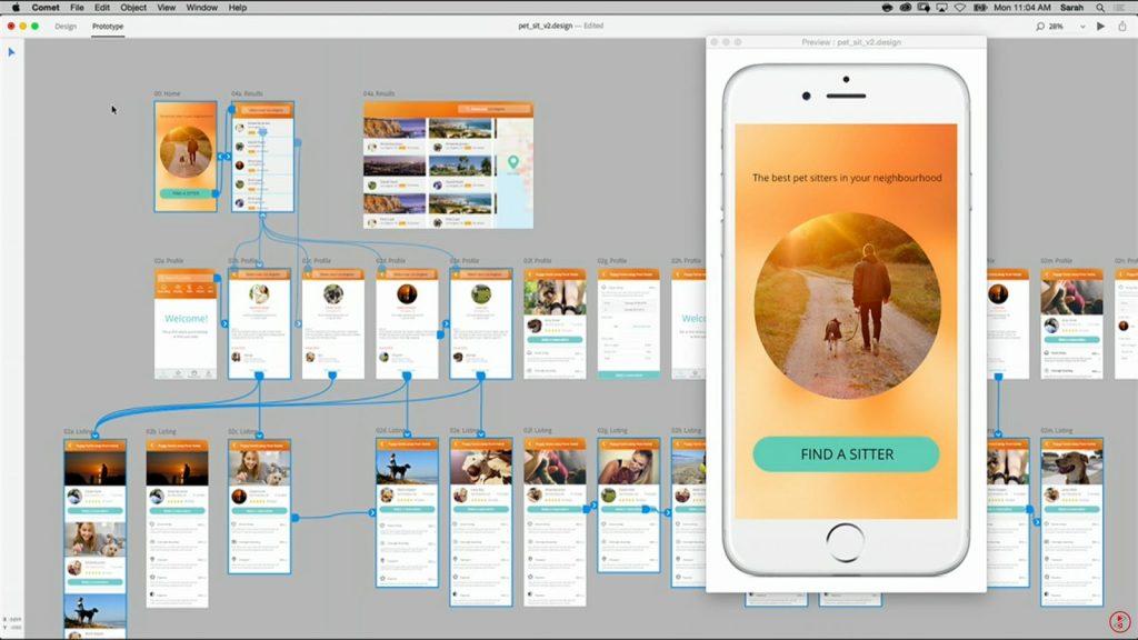 Fitur Live Preview Adobe Comet