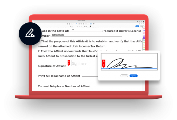 Adobe Sign on Laptop